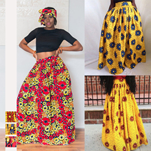 African Digital Printing Fashion Tight Medium-length Half-length Skirt Slipping Floppy Long clothes for women JQ-10024