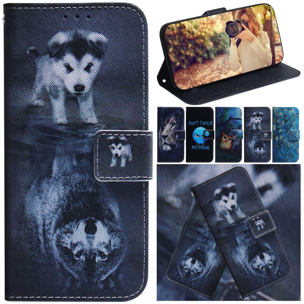 Wolf Tiger Gemalt Brieftasche Für Fall Nokia 1,3 2,2 2,3 2,4 3,2 3,4 4,2 5,3 6,2 7,2 8,1 9 PureView x7 Tasche Für Nokia 1 3,1 Plus D26F
