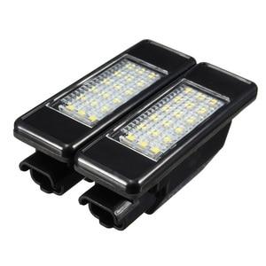 Image 1 - Pair LED License Plate Lights 6340.A3 For Peugeot 106 207 307 308 406 407 508 Citroen C3 C4 C5
