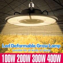 E27 oświetlenie Led do uprawy E26 Led UFO rosną namiot kryty lampa oświetleniowa 400W wysoka dioda Led dużej mocy pełne spektrum świecąca roślina 220V Phyto Lampara