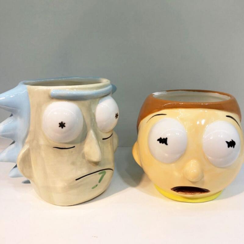 Rick And Morty Mug Cartoon Cug 600ML Tardis Creative Coffee Cup Beer Milk Mug With Cookie Wholesale Funny Gift