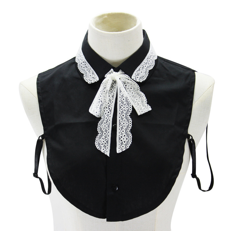 Lace Bow Pure Cotton Shirt Women Sweater Decoration Dickie Fake Collar Detachable New Free Shipping Drop Shpper