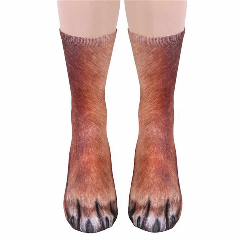 Новые хлопковые леопардовые забавные женские носки с принтом животных милые модные высокие носки до щиколотки для мужчин и женщин Calzino