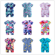 35 colors Summer Boys Clothes Newborn Jumpsuit Baby Girls Cartoon Rompe
