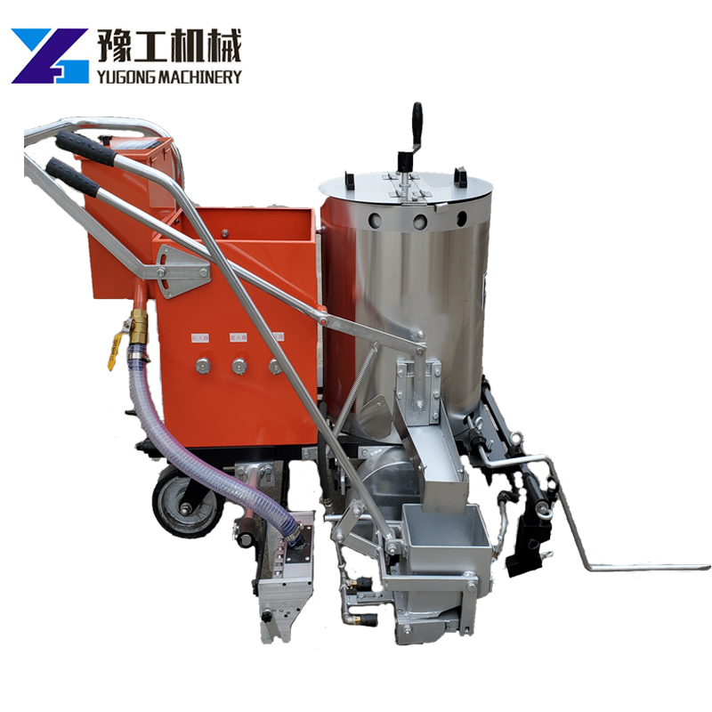 100 KG Capacity Manual Thermoplastic Hot Melt Line Road Marking MachineYG-380 Glass Bead Container Highway Marking