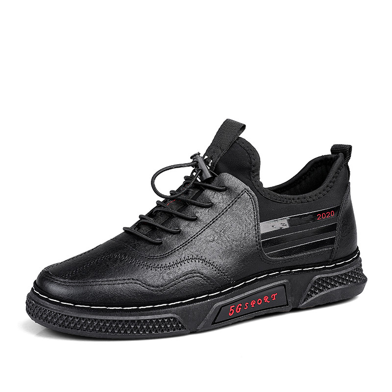 Men's Spring Sports Shoes For Men Oxford Shoes Leather Italy Pointed Toe Mens Sneakers Black Leather Oxford Masculino *