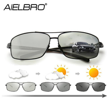 AIELBRO Polarized Photochromic Sunglasses Mens Transition Lens Driving Glasses Male Driver Safty Goggles Oculos Gafas De Sol цена 2017