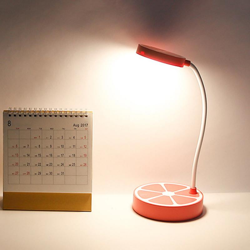 Creative Lemon LED Small Table Lamps Fruit Shape Touching Induction Dimmable Lights Bedside Bedroom Night Lighting 2