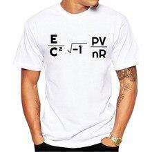 Teehub manga curta verão mit equação masculina camiseta letras impressas tshirts casual t hipster topos