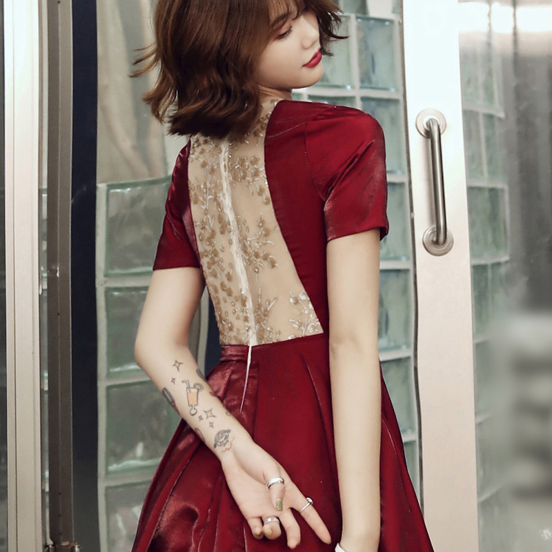 Toast Dress The Bride Paragraphs 2020 Autumn Red Dress Skirt Short Female Small Wedding Dress To Wear At Ordinary Times
