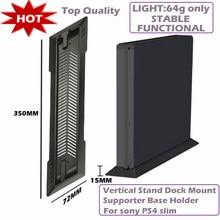 Suporte de base de apoio para sony ps4, dock vertical de suporte para correia, preto, imperdível