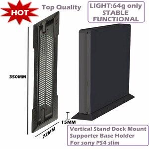 Hot Vertical Stand Dock Mount Supporter Base Holder for Sony PS4 Slim Black(China)