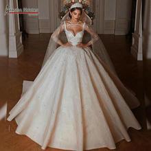 dubai style heavy beading wedding dress with long train