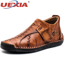 UEXIA Boots Men Shoes Comfortable Handmade Outdoor Sport Flats Ankle Boots Leather Autumn Motorcycle Sneaker Fashion Footwear(China)
