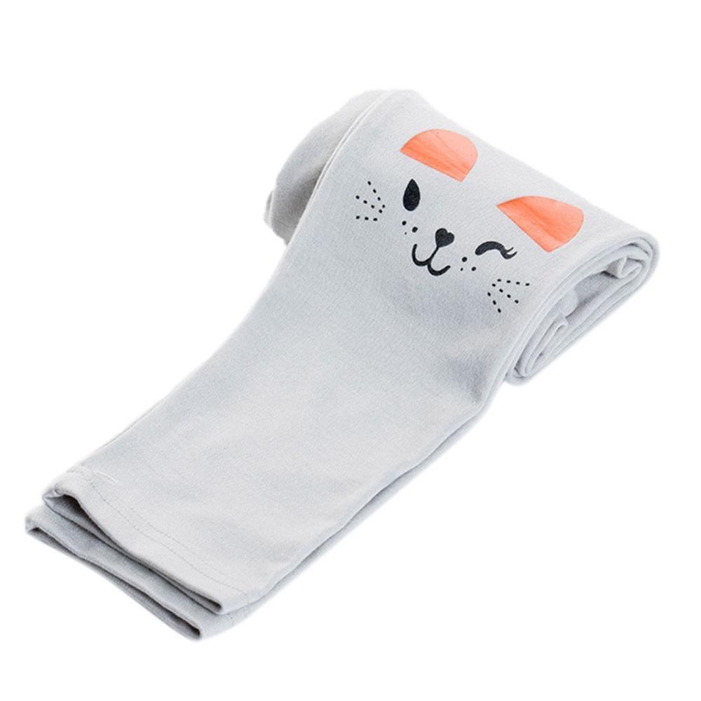 Kids Girls Rabbit Printed Winter Fleece Leggings Pants