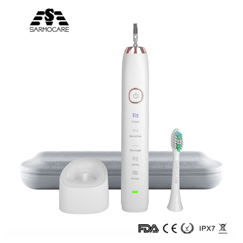 Sarmocare Ultrasonic Sonic Electric Toothbrush Rechargeable S100  Wireless IPX7 Waterproof Vibrator For Toothbrushes - discount item  35% OFF Personal Care Appliances