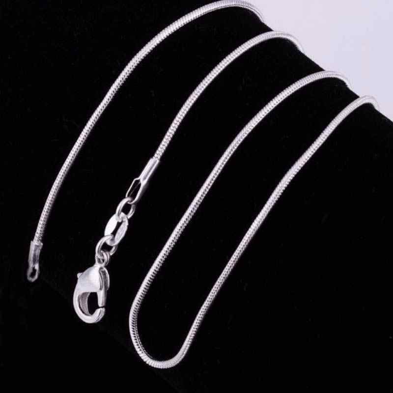 16-30 Inches Fashion Silver Plated Figaro Chain Twist Curb Necklaces for Men Women Long Chain Necklaces Lots Wholesale