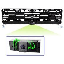 Европейская Автомобильная рамка для номерного знака CCD, рамка для Камеры Переднего Вида с одной камерой Переднего Вида, два датчика парковки