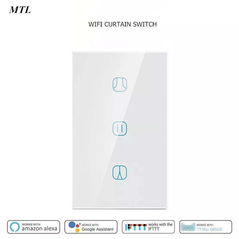 US Tuya Wifi Smart Curtain Switch For Roller Shutter Blind Electric Motor Google Home Alexa Echo Voice Control DIY Smart Home