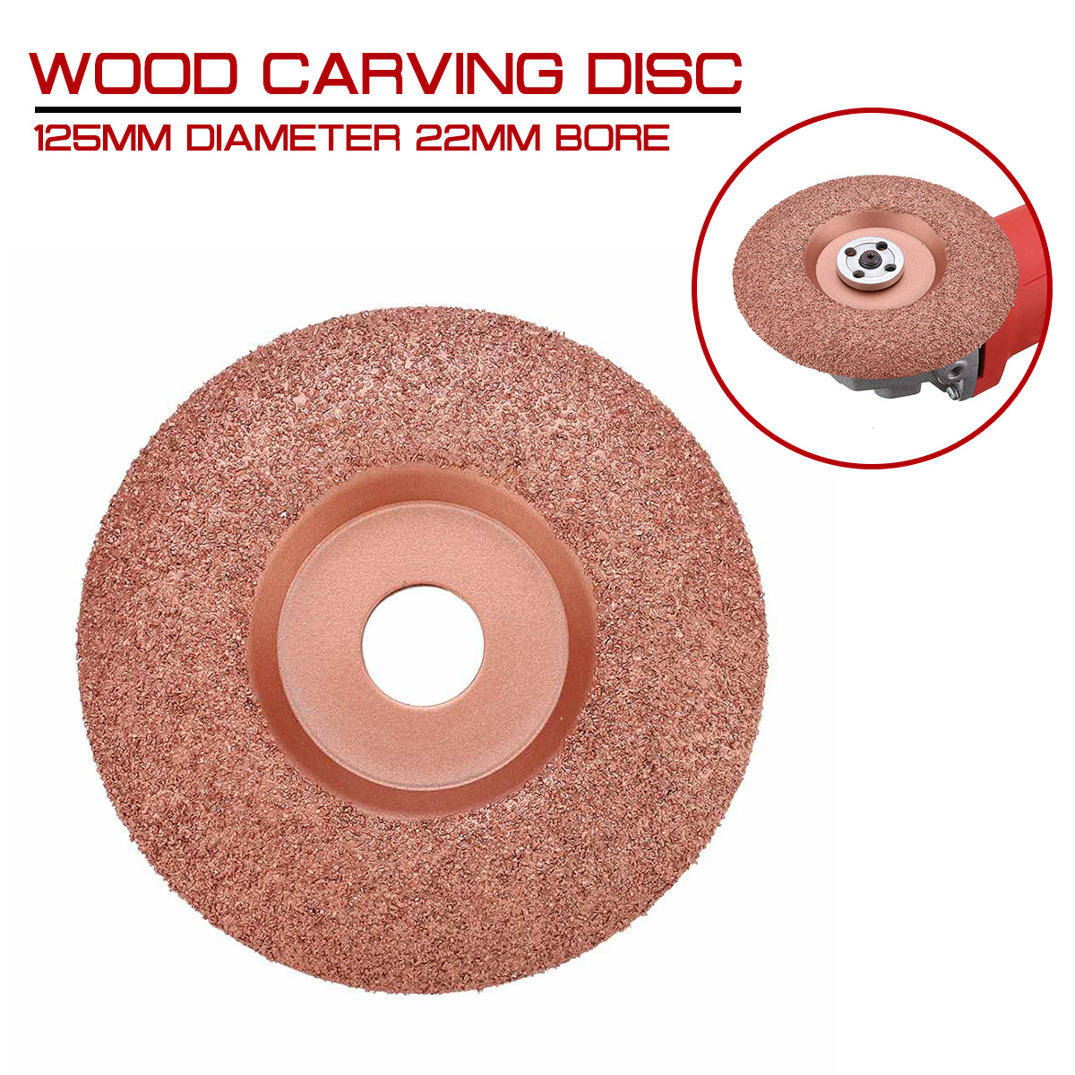 125mm Diameter 22mm Bore Wood Carving Disc Angle Grinder Disc Wood Shaping Disc Tungsten Carbide Shaping Dish