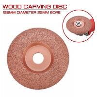 125mm diâmetro 22mm furo madeira escultura disco moedor de ângulo disco madeira moldar disco carboneto de tungstênio moldar prato