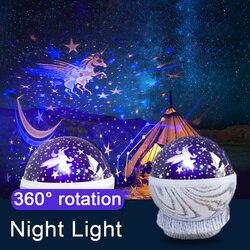 1 sztuk gwiaździste niebo  noc  lekki magia projektor bajki Elf lampa LED kolorowe obracać miga gwiazda dzieci dziecko prezent na Boże Narodzenie