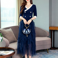 Women Skirts Suit Women Suits Office Sets Casual Short Tops And Layers Long Skirts Set Formal Terno Feminino Clothing Set CC386