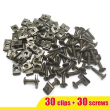 30sets/lot Motorcycle Car Scooter ATV Moped  Ebike Plastic Cover Metal Retainer Self-tapping Screw and Clips M4 M5 4.2mm 4.8mm