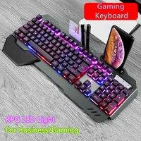 2020 tastiera meccanica RGB retroilluminazione a LED Plug And Play tastiera bianca/nera Design ergonomico tastiera da gioco impermeabile