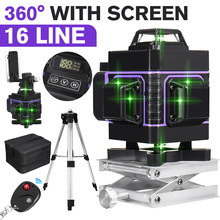 8/12/16 Lines 2/3/4D Laser Level Green Line Auto Self-Leveling 360 Horizontal Vertical Cross Super Powerful Laser Levels