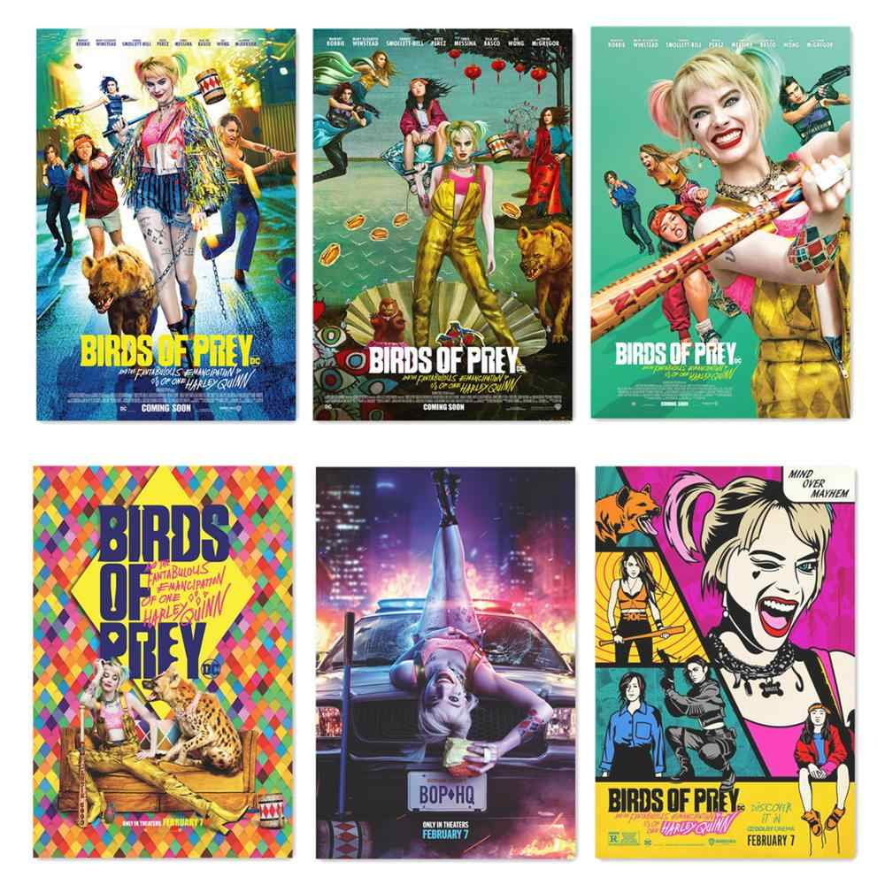 Birds Of Prey 2020 Movie Silk Poster Film Wall Art Picture Comics Joker Prints Home Room Wall Decor 60x90cm Harley Quinn Posters Aliexpress