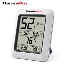 Termómetro Digital Thermopro TP50 higrómetro de alta precisión, higrómetro electrónico de humedad de temperatura para interiores, estación meteorológica