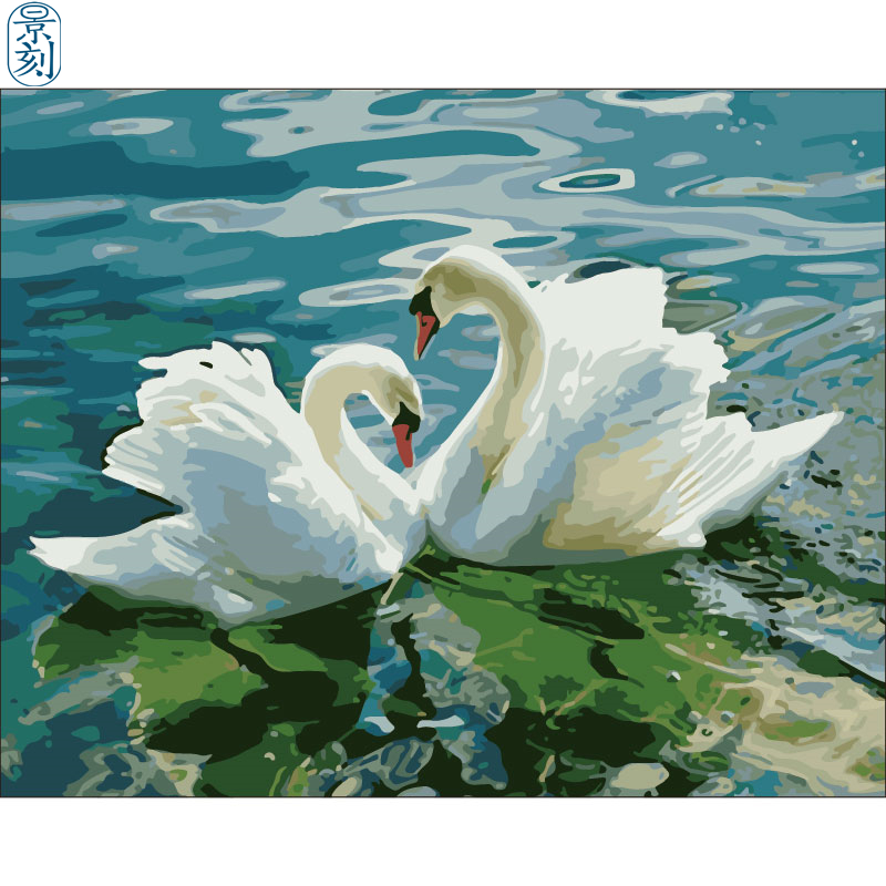 Swan Series.Hand Made Paint High Quality Canvas Beautiful Painting By Numbers Surprise Gift Great Accomplishment