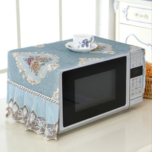 Oven-Covers Home-Decor Kitchen-Anti-Oil Plaid with Storage-Bag Cotton Cloth Decal Dustproof