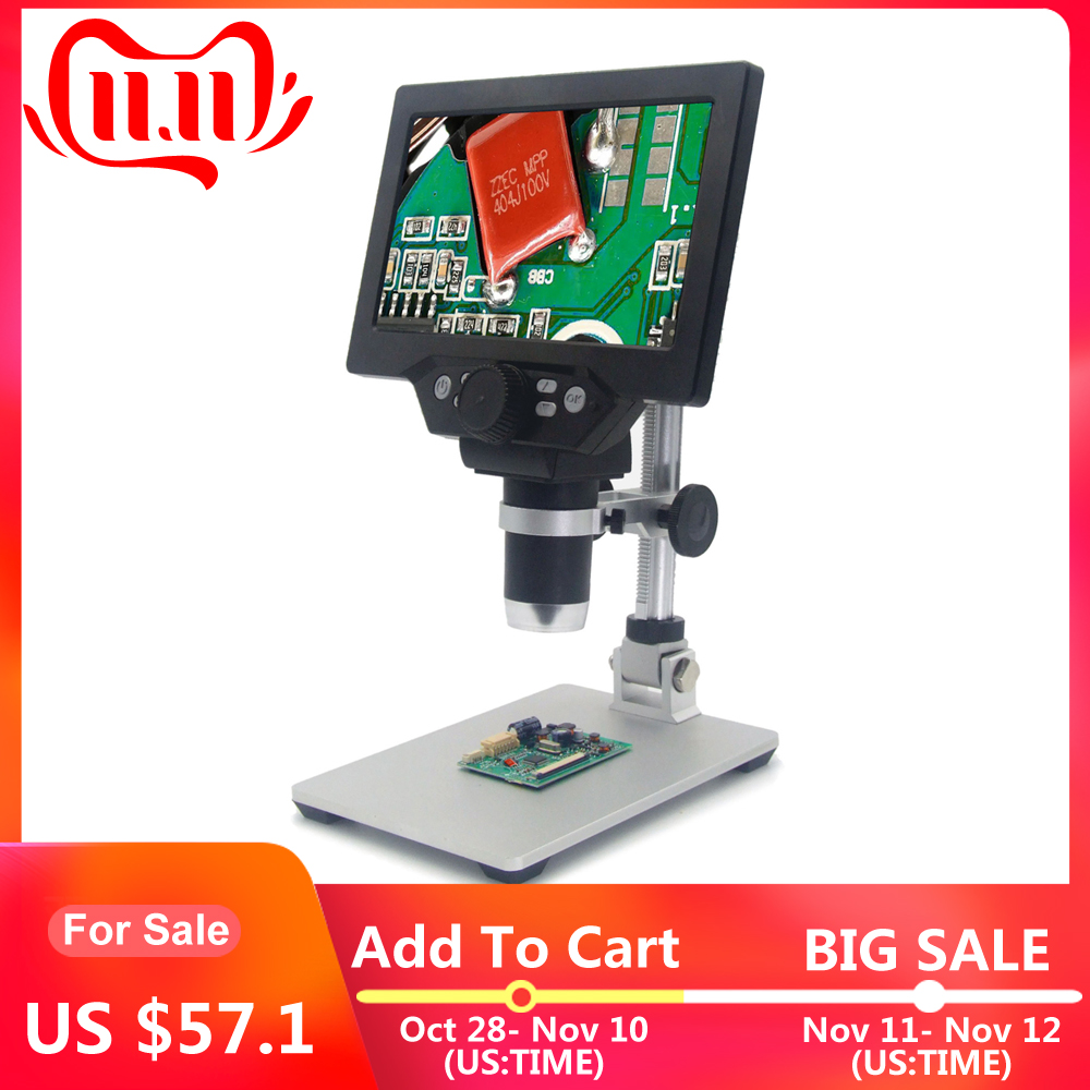 KKMOON G1200 12MP 1-1200X Microscope Digital Microscope For Soldering Electronic Microscopes Continuous Amplification Magnifier