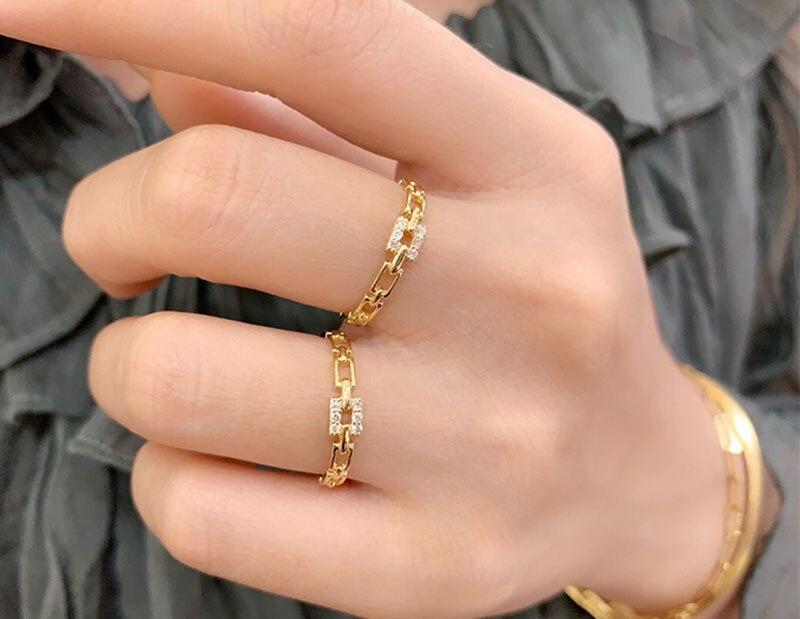 18k or diamant bague de fiançailles et mariage naturel véritable diamant bague bijoux ont certificat 003 - 5