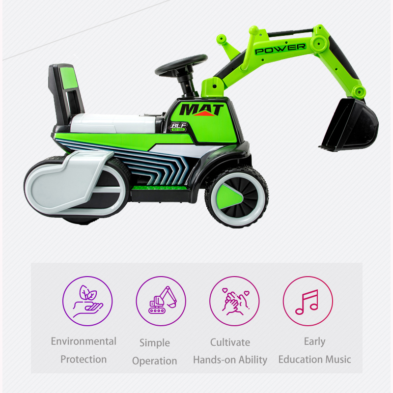 Enfant brillant enfant pelle Ride sur jouet bébé voiture équilibre voiture ingénierie véhicule avec lumière LED grand cadeau costume pour 1-5y bébé - 5