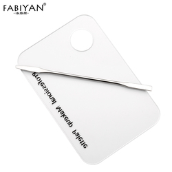 Makeup Palette Clear Acrylic Nail Stamping Plate Polish Gel Mixing Spatula Foundation Eyeshadow Stainless Steel Rod Art Manicure