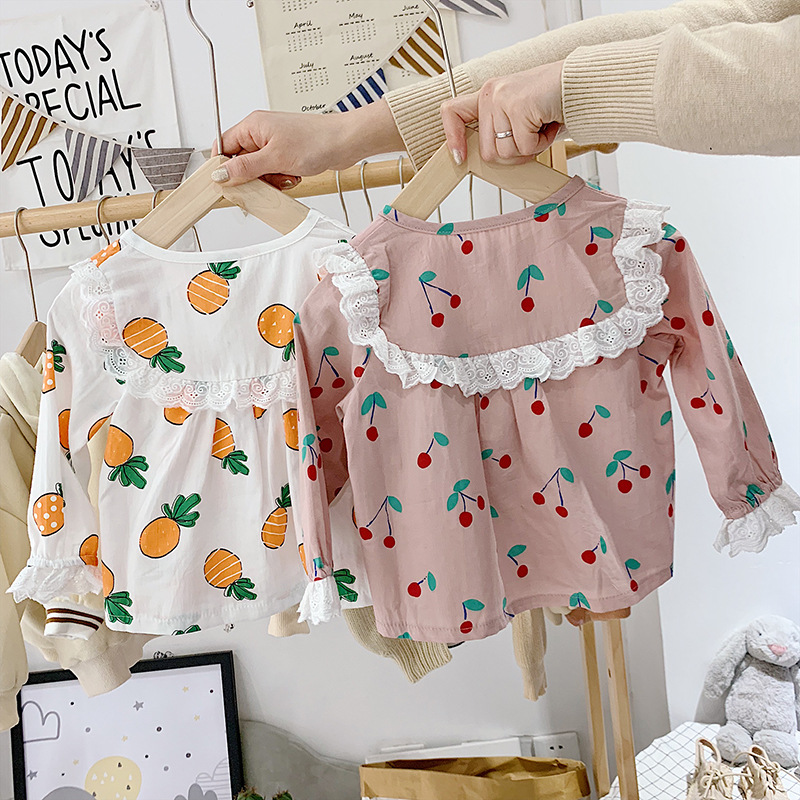 Mom Children Pure Cotton Summer Wear Tracksuit Girls Spring Long Sleeve Pajamas Suit Baby 2019 Spring And Autumn Two Class B