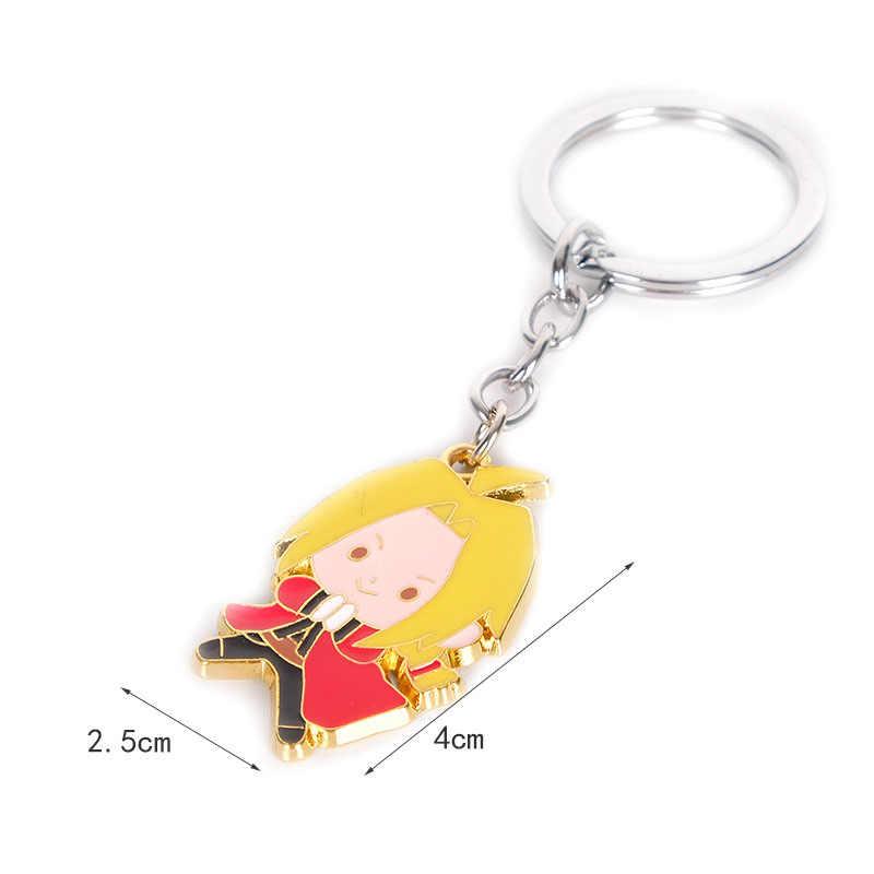 Kingdom Hearts Edward Elric สังกะสีโลหะผสมโลหะผู้ชายพวงกุญแจ keyring ของขวัญพวงกุญแจจี้ตกแต่งตลกของเล่น COSPLAY