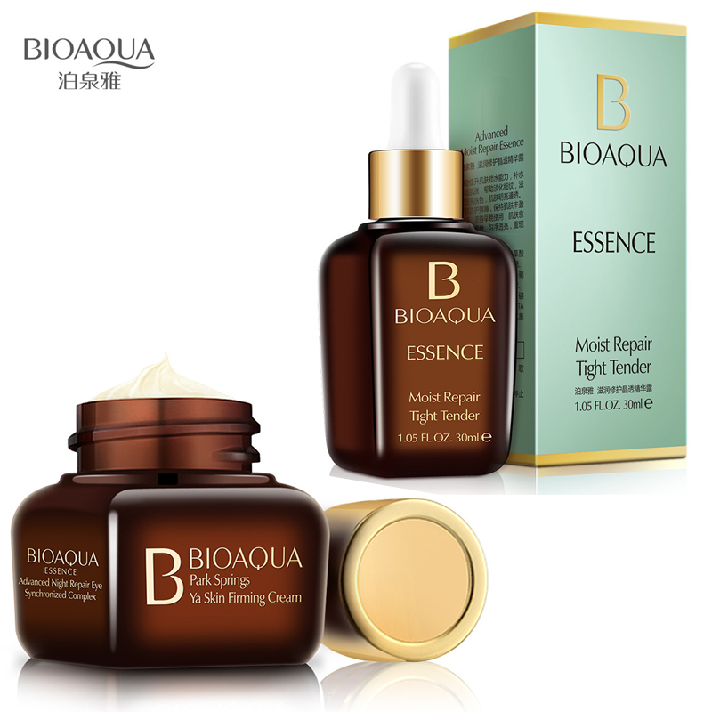 BIOAQUA Hyaluronic Acid Face Repair Essence + Eye Cream Firming Whitening Moisturizing Anti Wrinkle Anti Aging Skin Care