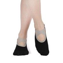 Женские носки для йоги с кнопкой, хлопковые нескользящие липкие носки для тренировок, пилатеса, женские носки для танцев, фитнеса, балета