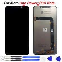 цены For Motorola Moto One Power LCD Display Screen Digitizer Sensor Glass Lens Panel For Motorola P30 Note Display Touch Screen LCD