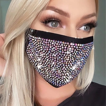 New Crystal Masquerade Face Mask for Female Vintage Party Accessories Rhinestone Mouth Mask Popular Party Nightclub Jewelry 2021