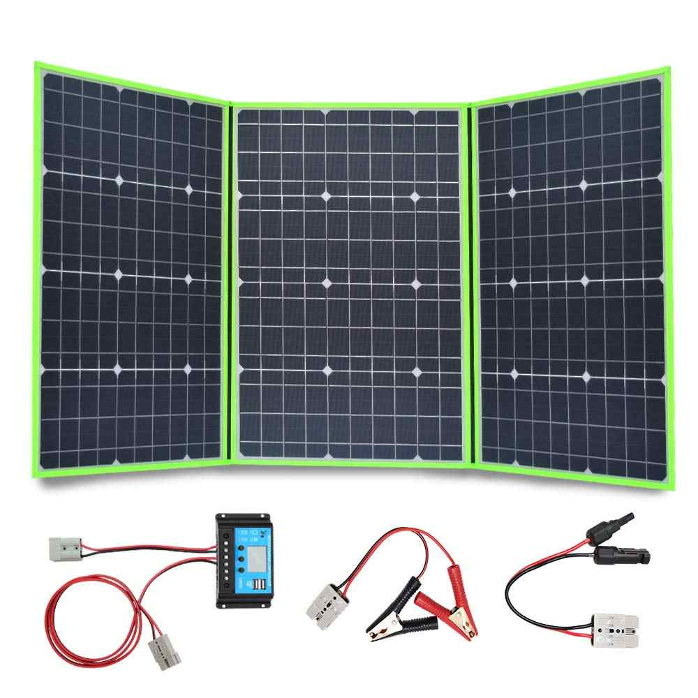 100w 150w 200w 300w 18v/20v solar panel foldable flexible portable home kit outdoor charger controller 5v usb 12v car RV battery