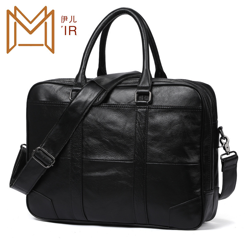 Man Briefcase Business Affairs Man Genuine Leather Male Package 15.6 Inch Computer Handbag Male Package