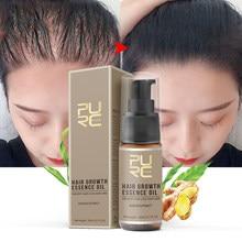 PURC-aceites de suero para el crecimiento del cabello para hombres y mujeres, productos de crecimiento rápido del cabello, tratamientos para el cuero cabelludo para adelgazamiento, belleza, 20ml