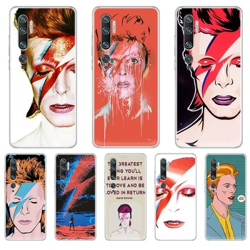 Art david bowie painting soft Etui hoesjes Transparent Phone Case For XIAOMI mi 3 4 5 5X 8 9 10 se max pro a2 9T note lite image