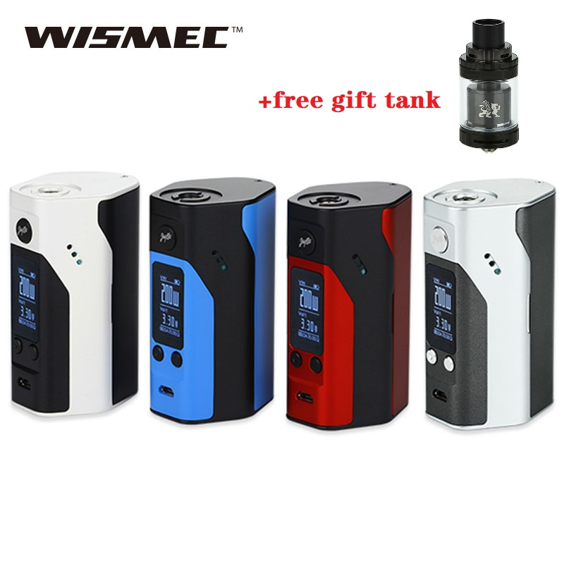 Free Gift 6ml RTA Tank Original 200W WISMEC Reuleaux RX200S TC Box Mod With 0.96 Inch OLED Screen E-cig Mod Vs GEN Mod / Drag 2