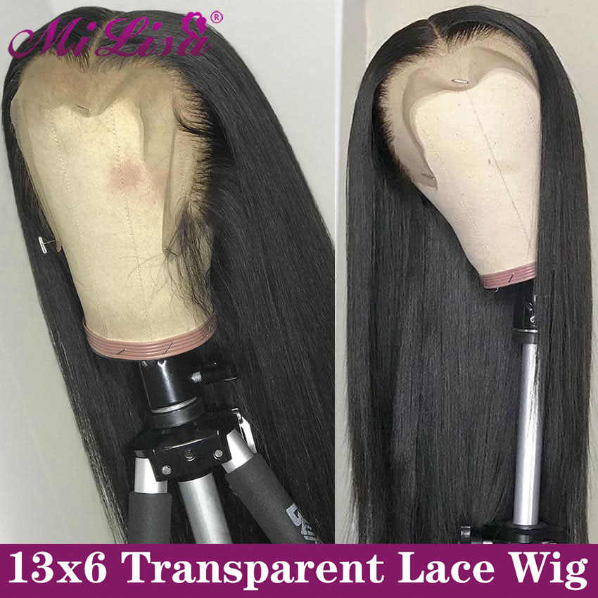 13x6 Straight Lace Front Human Hair Wigs For Black Women Remy Mi Lisa Brazilian Wigs Straight Human Hair 13x4 Lace Frontal Wigs